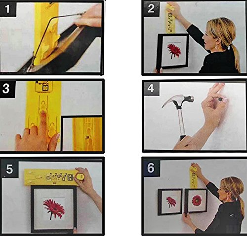 Suspension Measurement Marking Position Tool,Hang and Level Picture Hanging Tool and Horizontal Wall of The Roof, Perfect to Hang Pictures, Mirrors and Clocks, Yellow by GG Life (Image #6)