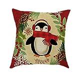 Pgojuni Cotton Blend Cotton Linen Christmas Pillow Case Sofa Car Throw Cushion Cover Home Decor Sofa/Couch 1pc (B)