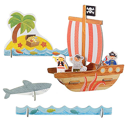and Build Pop-Out, Pirates Playset ()