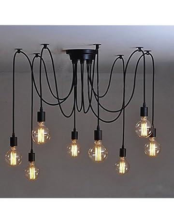 Ceiling Lights & Fans Led Hanging Lamps Novelty Retro Chandelier American Style Industrial Chandeliers Bar Fixtures Nordic Restaurant Lighting