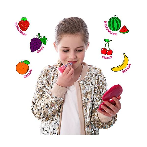 GirlZone Rainbow Fruity Lip Gloss Makeup Set for Kids and Girls, Great Birthday Gifts For Girls 9
