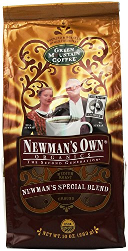 - Newman's Own Organics Organic Coffee Newman's Special Blend 10 oz. Ground (Pack of 6)