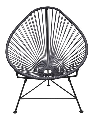 Innit Designs Baby Acapulco Chair, Black Weave on Black Frame