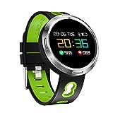 Rumas Smart Bracelet with Heart Rate Blood Pressure Monitor, BLE 4.0 0.95 inch OLED NRF52832, Waterproof Smart Watch Heavy Duty, Sleep Monitor (Green)