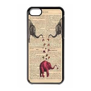 Unique Design -ZE-MIN PHONE CASE- For Iphone 5c -Animal Elephant Pattern-CUSTOM-DESIGH 3