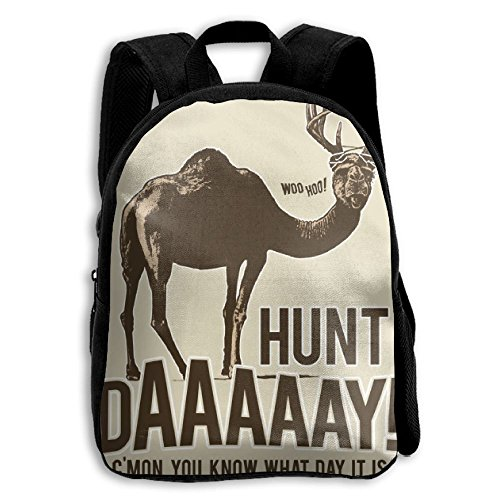 Hunt Daaaaay You Know What Day It Is Kid Boys Girls Toddler Pre School Backpack Bags Lightweight