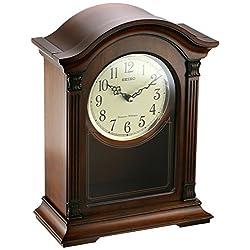 Seiko Wood Mantel Clock (Model: QXQ032BLH)