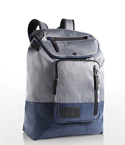 Calvin Klein Mens Tech Nylon Flap Travel Laptop Backpack (Pavement) by Calvin Klein