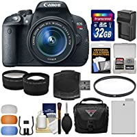 Canon EOS Rebel T5i Digital SLR Camera & EF-S 18-55mm IS STM Lens with 32GB Card + Case + Battery & Charger + Filter + Tele/Wide Lens Kit