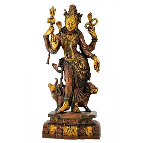 Gangesindia 'Adhnarishwar' Shiva and Shakti Combined Form - Brass Statue