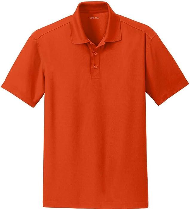 c34a4029 Joe's USA(tm) Men's Moisture Wicking Textured Polo-Orange-XS at Amazon Men's  Clothing store: