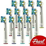 Flossaction Replacement Brush Heads- Professional Floss Action Braun Electric Toothbrush Head 12 Pack- Compatible w/ 7000, Pro 1000, 9600, 500, 3000, 8000, Vitality+ More!