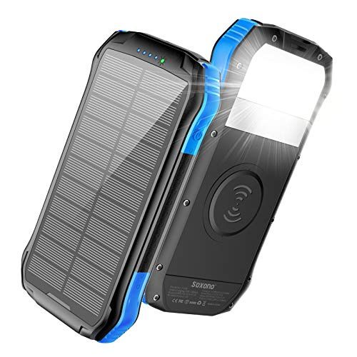 Solar charger with (QI) this is the best way to go for newer phones