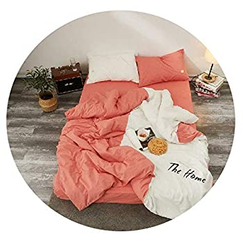 Image of Cotton King Size Queen Bedding Set Soft Bedclothes Bed Sheet Fitted Sheet Duvet Cover Bed Set,Bedding Set 6,King Size 4pcs Home and Kitchen