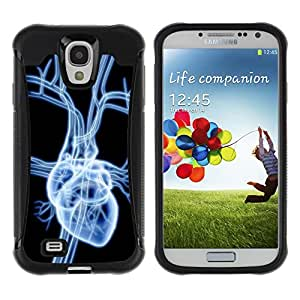 CAZZ Rugged Armor Slim Protection Case Cover Shell // Heart X Ray // Samsung Galaxy S4
