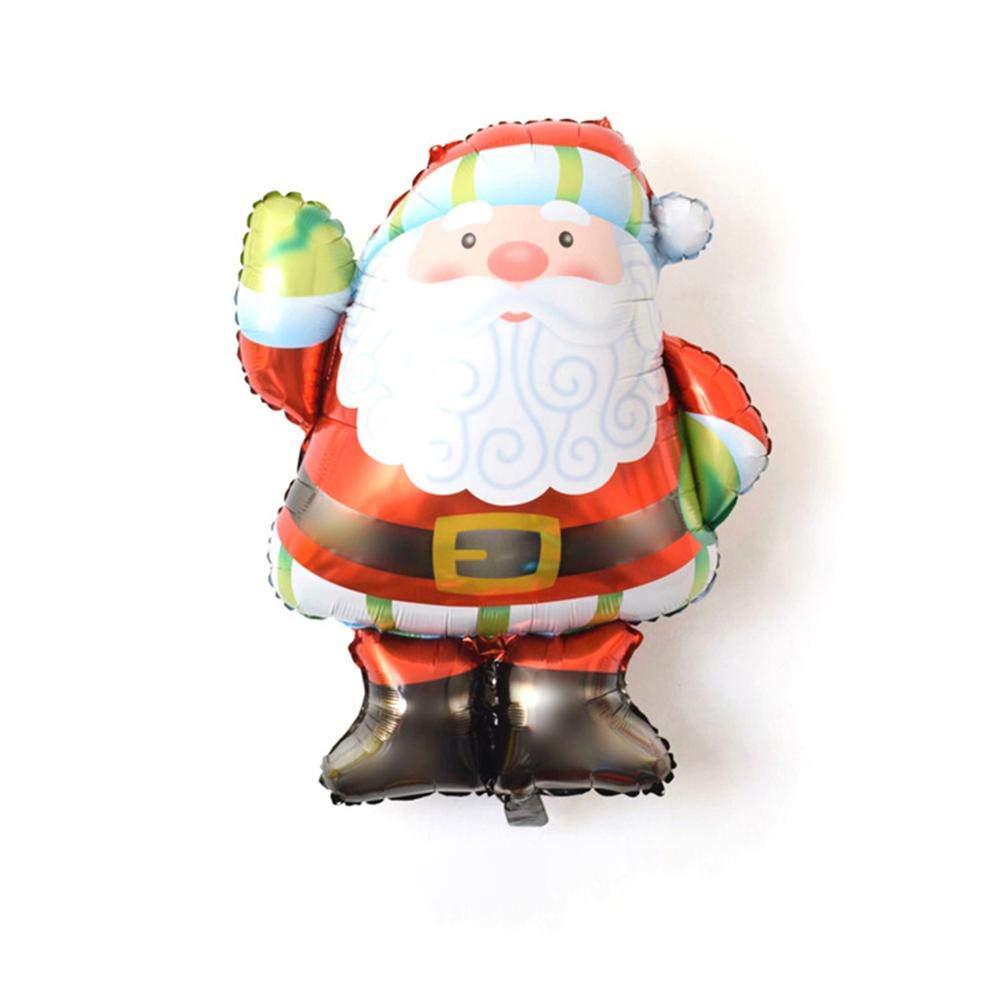 25 Natale.Color A Size Nuova Forma Di Babbo Natale Palloncino