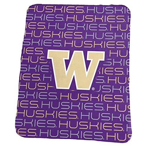 Logo Brands NCAA Washington Huskies Classic Fleece, One Size, Purple