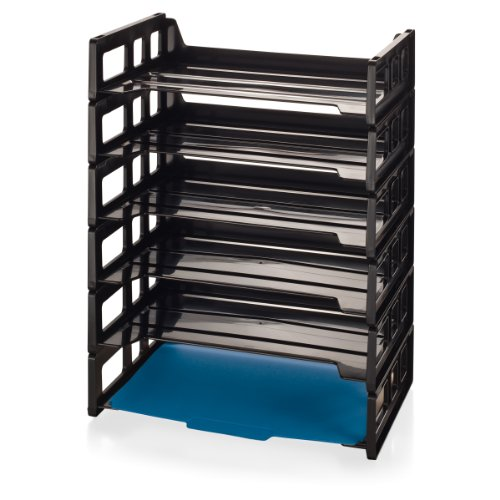 Officemate Side Load Letter Tray, Black, 6 Pack - Tray Plastic Load