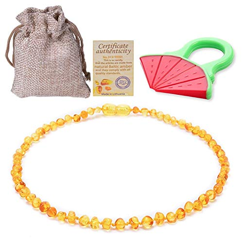 - Power Necklaces - Baltic Ambers Teething Necklace/Bracelet for Baby/Adult Anti Inflammatory, Drooling Highest Quality Certified Polishing Ambers - by LuckyNecklaces - 1 PCs