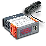 Elitech STC-1000 110V All-Purpose Temperature Controller + Sensor 2 Relay Output Thermostat -50-99 Celsius for Aquarium and Temperature-sensitive Storage