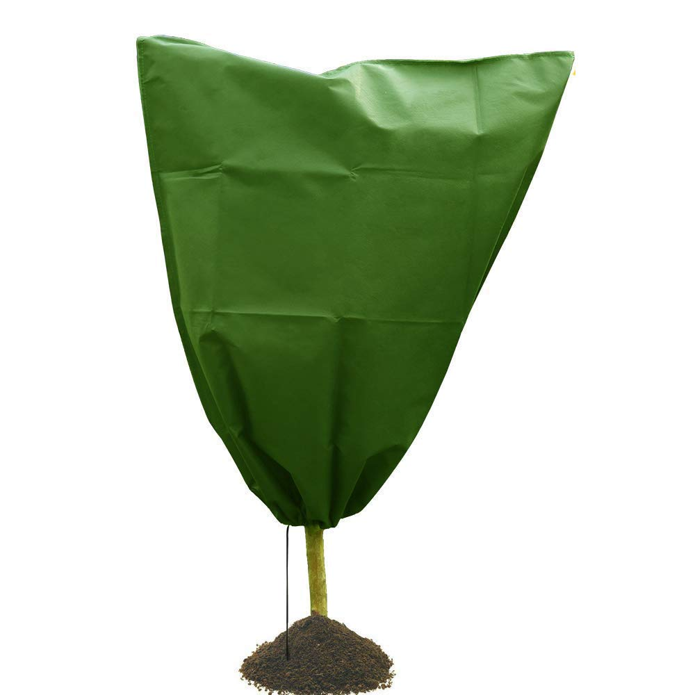 Sikye Winter Outdoor Tree Shrub Plant Cover Protecting Bag Frost Protection Yard Garden Warm Cover (Green (1PCS))