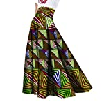 Comaba Womens Big Pendulum Dashiki African Print Vogue Graceful Party Skirt 8 L