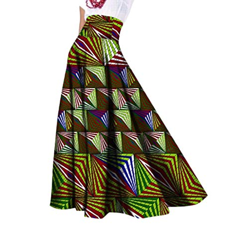 Comaba Womens Big Pendulum Dashiki African Print Vogue Graceful Party Skirt 8 L by Comaba