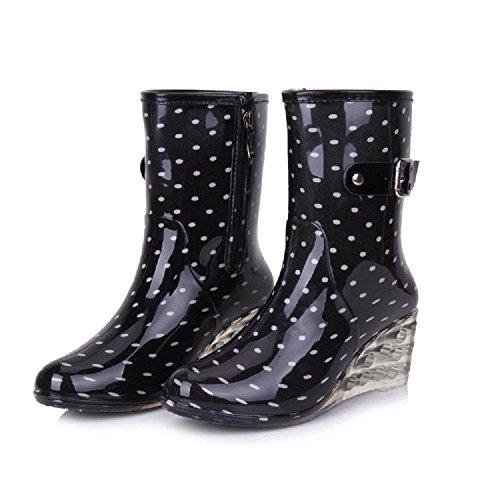 Alger Fashion side zipper non-slip rain boots, 37