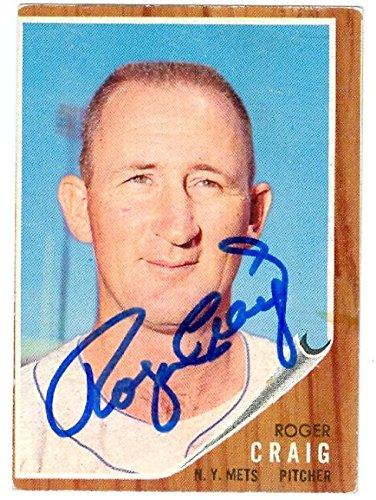 (Roger Craig autographed baseball card (New York Mets) 1962 Topps baseball card #183 - Autographed Baseball Cards)