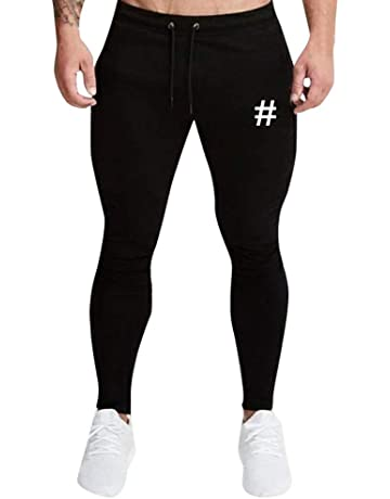 size 40 a4b1b 490c3 VPASS Pantalones para Hombre,Chándal de Hombres Impresión Pantalones  Sueltos Ocasionales Running Jogging Pantalon Trend