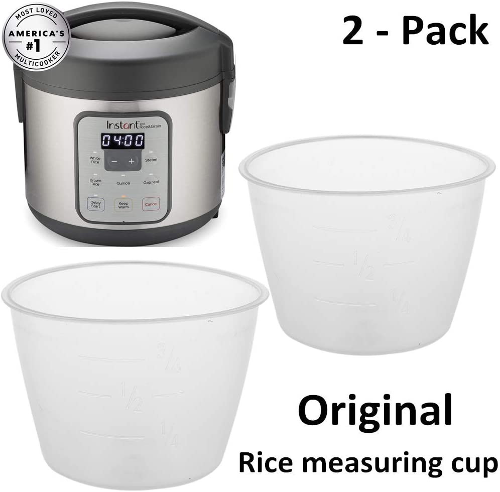 Original Rice Measuring Cup for Instant Zest Rice Cooker, Steamer 8-Cup, 20-Cup, 20-Cup Zest Plus Cooker Replacement Cup, 2 - Pack