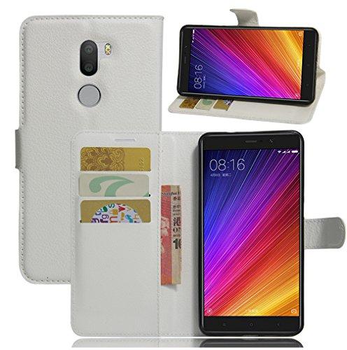 Funda Xiaomi Mi 5S Plus,Manyip Caja del teléfono del cuero,Protector de Pantalla de Slim Case Estilo Billetera con Ranuras para Tarjetas, Soporte Plegable, Cierre Magnético I