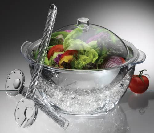Prodyne ICED Salad Bowl, 4 Qt, Off-white
