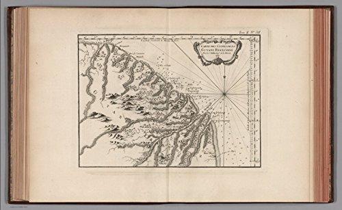 map-poster-carte-des-costes-de-la-guyane-franfoise-par-le-s-berlin-ingr-de-la-marine-24x15