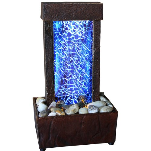 Cracked Glass Light Show LED Indoor Fountain