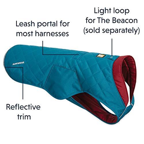RUFFWEAR - Stumptown Insulated, Reflective Cold Weather Jacket for Dogs, Metolius Blue, X-Small by RUFFWEAR (Image #5)