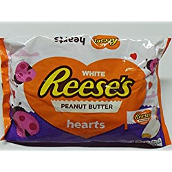 Reese's White Peanut Butter Hearts 10.2oz for Valentines Day
