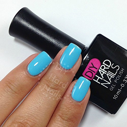 Geleration Soak Off Gel (Blue UV Soak Off Gel (Shellac) Nail Polish - Sky Blue- Professional Grade - Requires UV or LED Nail lamp - BONUS DIY Gel eGuide Included)