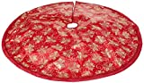"""47.2"""" Red Fabric With Gold Glitter Christmas Tree"""