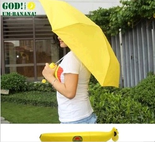 Um-banana Umbrella Banana Size Umbrella Three Fold Umbrella Portable Umbrella Pencil
