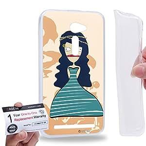 """Case88 [Asus Zenfone 2 5.0"""" ZE500CL] Gel TPU Carcasa/Funda & Tarjeta de garantía - Art Fashion Drawing Cleopatra C"""