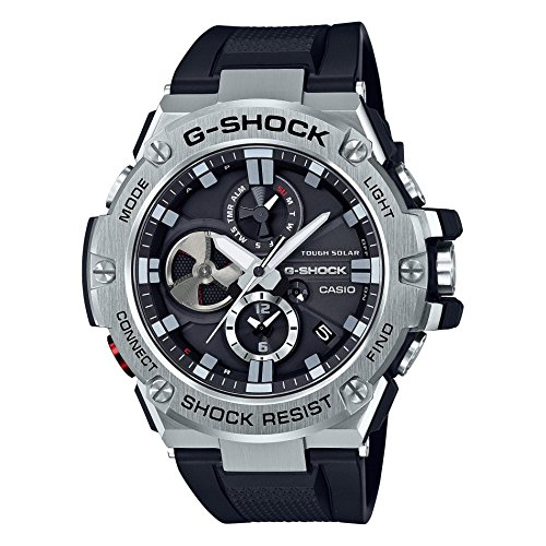 Casio Men's 'G-Steel by G-Shock' Quartz Solar Bluetooth Connected Resin Dress Watch, Color: Black (Model: GST-B100-1ACR) (Best Energy Investments For 2019)