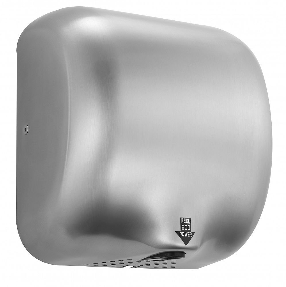Hand Dryer - High Speed Automatic Electric Heavy Duty Stainless Steel Commercial Hand Dryer for Toilets, Washrooms, High Traffic, Businesses, Schools, Colleges, Restaurants, Pubs, Night Clubs, Hotels, Airports, Bus Stations (Brushed Satin) Dryflow