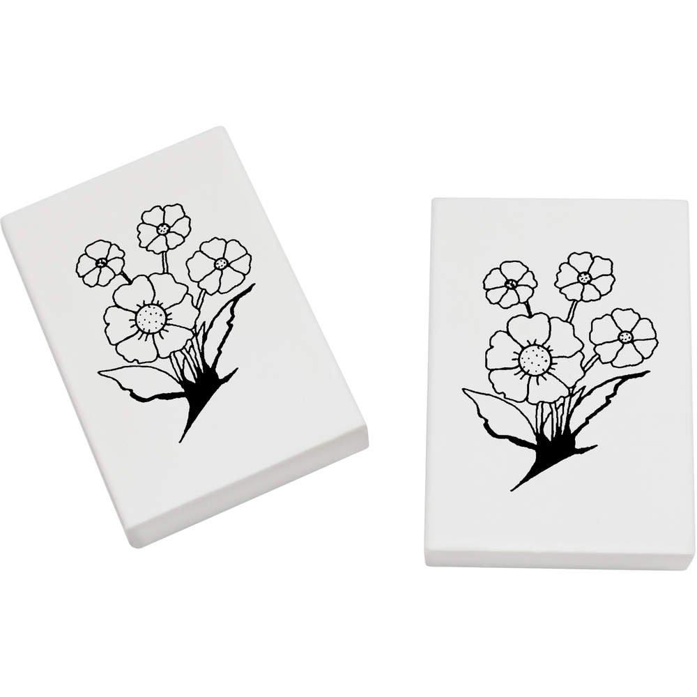 Azeeda 2 x 45mm 'Schöne Blumen' Radiergummis (ER00018398)