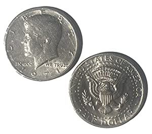 London Magic Works Genuine US Double Heads and Double Tails Half Dollars With Instructions for Switching the Coins