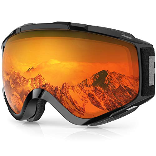 findway Ski Goggles, Snow Snowboard Snowboarding Goggles 2019 Updated Double Glasses Helmet Compatible Scratch Resistant Anti-Fog 100% UV Protection OTG for Women Men
