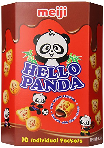 Creme Filled Chocolate Cookies - Meiji Hello Panda Chocolate Biscuit, 9.1 Ounce