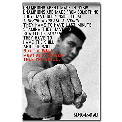 13X20Inch Muhammad Ali Motivational Quote Boxing Art Silk Po