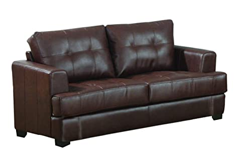 Prime Samuel Loveseat With Attached Seat Cushions Dark Brown Short Links Chair Design For Home Short Linksinfo