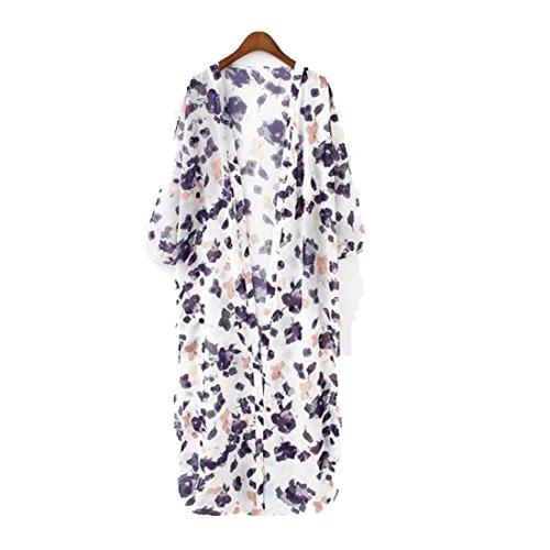 Toraway Cardigan Floral Chiffon Sleeve